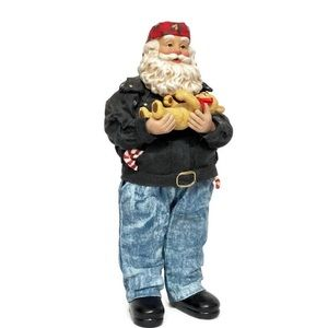 Possible Dreams Biker Santa Figurine